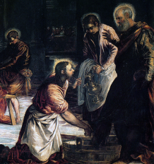 tintoretto washing of the feet detail