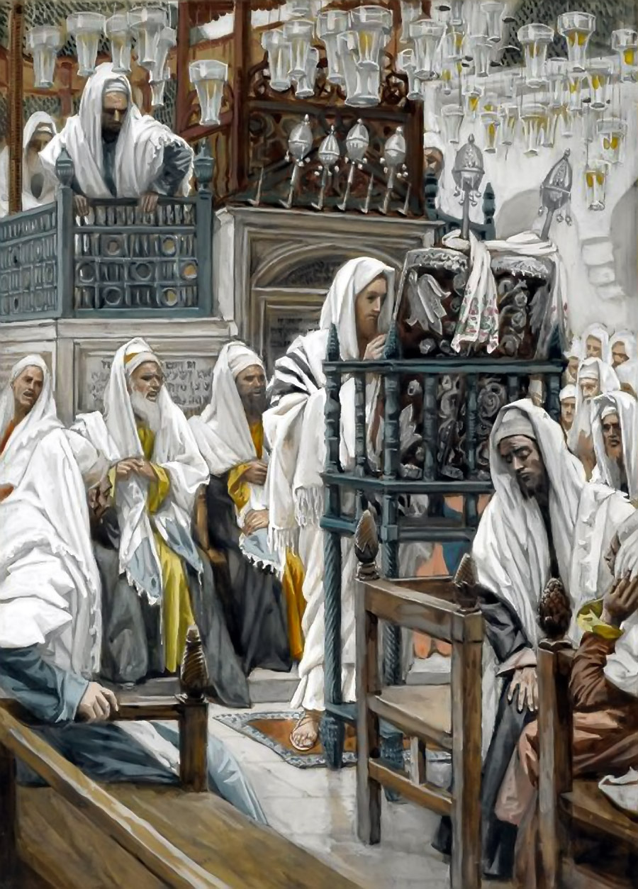 Jesus Unrolls the Book in the Synagogue - James Tissot - 1886-1894